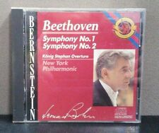 Beethoven: Symphonies Nos. 1 & 2  (CD)  Leonard Bernstein  LIKE NEW   DB 2851