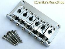 Electric guitar hardtail bridge chrome through body stringing hard tail 76mm