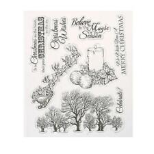 Silicone Clear Stamp Seal Scrapbooking Cling Diary Christmas Card DIY Craft