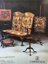 Christie's London, Auction Catalog, Fine English Furniture, Thurs July 14, 1994
