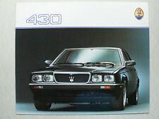 PROSPEKT MASERATI 430 2,8 L 250 CV, 1988, 6 pagine, Folder, lucido, spagnolo