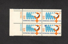 SCOTT # 1571 Int'l Women's Year Issue U.S. Stamps MNH - Plate Block of 4