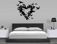 Heart Birds Wall Decal Removable Sticker Vinyl Decor Art Transfer Love Bedroom