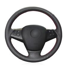 Hand Sewing Black Artificial Leather Steering Wheel Cover for BMW E70 X5 2008-13