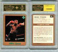 Rare MIKE TYSON Scarce  July 1991 TUFF STUFF Jr Card #6 GRADED ASG 9 NM