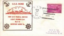 USS Boise CL-47 to GowNg, Portsmouth, NH, 1st Postal Day, 1936 (N3792)