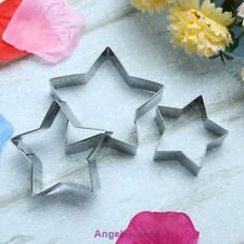 Five-pointed Star Cutters Stainless steel Cookie Fondant Cake Cutters Tools