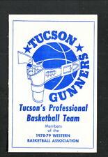Tucson Gunners--1978-79 Pocket Schedule--Pleasure Time--WBA
