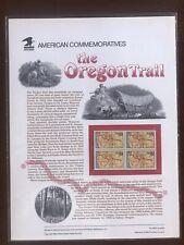 USPS 1993 Americn Commemorative Panels  THE OREGON TRAIL NO.409 In A Series