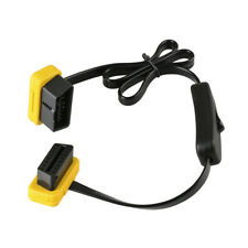 ELM327 OBD2 16pin Flat Extension Cable Anschlüsse Verlängerungskabel Switch 60cm