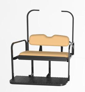 EZGO TXT Rear Seat Kit - Tan Seat Cushions