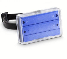 10 Stk Schilderhalter, 2,00?/Stück, Kovinoplast BLAU Heizung Sanitär 55mm x 35mm