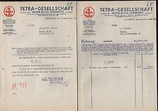 CHEMNITZ, 2 x Brief 1938, Tetra-Gesellschaft Sieper & Co.