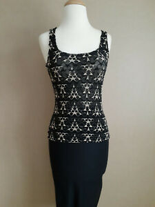 Wolford Vivienne Westwood collection Black and Tan Tank top in a Size Small