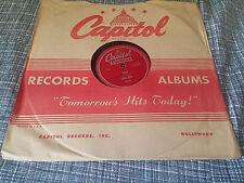 Eddie Kirk 78 Capitol Americana 40046 Judy/Memories are My Hillbilly E-
