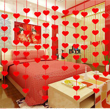 Non-Woven Garland Love Heart Curtain Wedding Supply Wedding Decoration Room G3