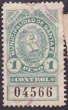 Argentina Revenue Municipalidad de Santa Fe, Control 1900 1 peso,  $$$ / (10-23)