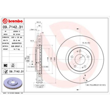 Bremsscheibe COATED DISC LINE - Brembo 09.7142.31