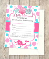 20 Set Magical Glitter Fill In with... WERNNSAI Mermaid Party Invitations