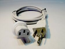 Lot 6 Genuine Apple Volex Computer Power Cable 3-Prong Monitor AC Cord