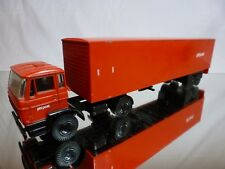 LION CAR 59 + 36 DAF 2000 TRUCK - PTT POST - RED 1:50 - GOOD CONDITION