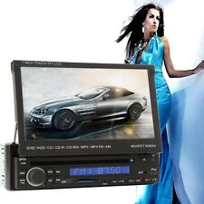 "7"" LCD Touch Screen 1 DIN in-Dash Bluetooth Car DVD Player Radio Stereo SD IPOD"