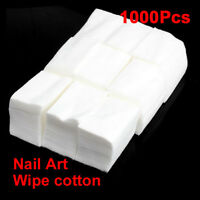 1000pcs Cotton Acrylic UV Nail Polish Gel Tips Remover Cleaner Wipes Lint Free