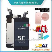 Display LCD iPhone 5c assemblato completo Fotocamera Tastohome Altoparlante Nero