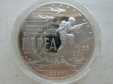 1991 Korea   $1 Silver Dollar Proof Commemorative Coin