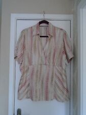 ladies satin feel top from Next size 20 NEW