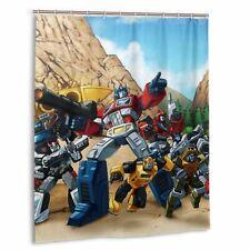 Transformers G1 Robot 80s Waterproof Shower Curtain Bathroom Wall Hanging Hooks