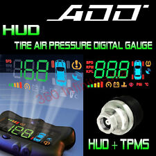 ADD HUD SPEED HEAD UP DISPLAY + Wireless Tire Pressure system + add on Sensor