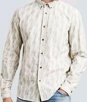 Levi's Made Crafted small Standard men Shirt Ikat  NWT sz1 Italian cotton 278$