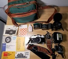 Canon Ftb Ql 35mm Slr Film Camera with Multiple Lenses and Accessories