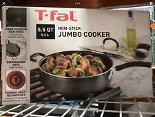 T-fal 5.5-Quart Jumbo Cooker Saute Pan with Glass Lid Cookware