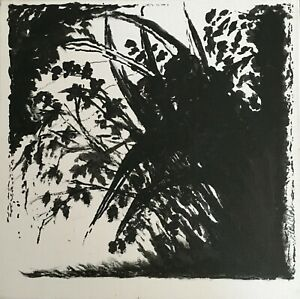 """12"""" x 12"""" Original Ink Painting on Canvas - 1"""" 1/2"""" Deep Signed, Wired"""