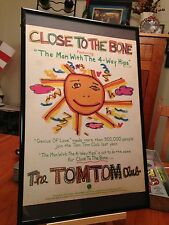 "Big 11X17 Framed The Tom Tom Club ""Close To The Bone"" Lp Album Cd Promo Ad"