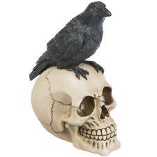 Deko Totenkopf Rabe Skull Schädel Horror HalloweenTattoostudio Ravenskull Gothic