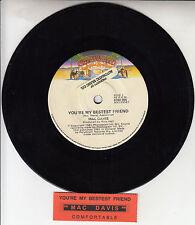 "MAC DAVIS You're My Bestest Friend 7"" 45 rpm vinyl record + juke box title strip"