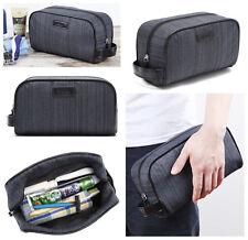 Mens Dark Grey Toiletry Bag Shower Organizer Kit Case #42