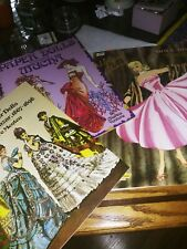 3 Paper Doll Books Janet Leigh 1958, Victorian Fashion 1977 & Mucha 1990 Uncut