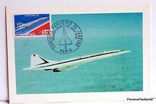 Yt PA49A CONCORDE PARIS RIO  FRANCE CARTE MAXIMUM 1° JOUR FCP