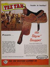 1975 Tex Tan SHOW STOPPER Horse Saddle photo vintage print Ad