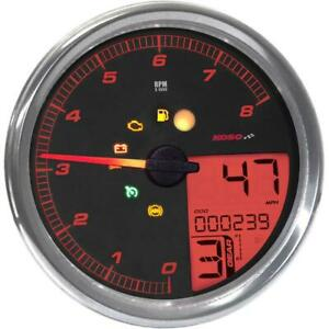Koso North America BA072000 HD-05 Multi-Function Tachometer/Speedometer
