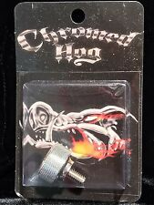 CHROMED HOG Harley Motorcycle SEAT BOLT Chrome Billet Revolver KNURLED LARGE
