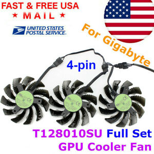 T128010SU GPU Cooling Fan 75mm 4PIN Gigabyte GTX1050 1060 1070 1080 G1 N960 N970