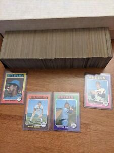 🔥1975 Topps Baseball Cards Complete Vintage Set #1-660 EX-N/Mint BRETT YOUNT🔥