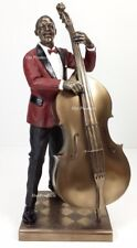 Jazz Band Collection - Double Bass Guitar Player Home Decor Statue Sculpture