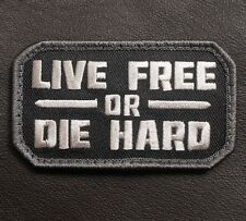LIVE FREE OR DIE HARD TACTICAL ARMY USA SWAT VELCRO® BRAND FASTENER PATCH