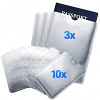 RFID 10x Card 3x Passport Credit ID Sleeve Holder Blocking Safety Shield Theft